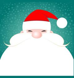 santa claus christmas greeting card vector image