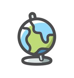 school globe simple icon cartoon vector image