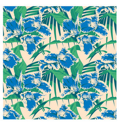 seamless summer hawaiian tropical pattern with vector image