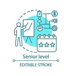Senior level concept icon profession level idea vector