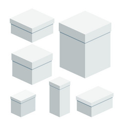 set of packing boxes vector image