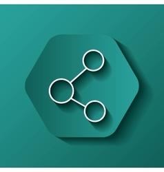 share icon Communication design over hexagon vector image