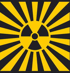 sign dangerous ionizing radiation pop art vector image