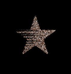 silver star banner silver glitter vector image