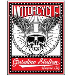 Skull motorcycle helmet t shirt graphic design vector