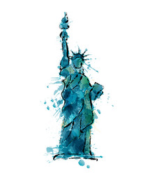 Statue of liberty in new york made of colorful vector