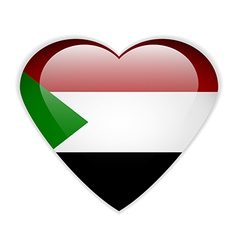 Sudan flag button vector image
