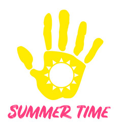 summer time palm sun vector image