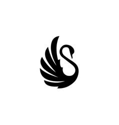 swan logo template design vector image