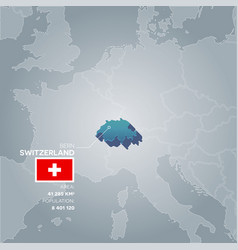 Switzerland information map vector