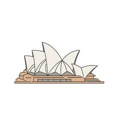 sydney opera house famous tourist landmark sketch vector image