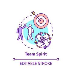 Team spirit concept icon vector