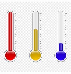 temperature thermometer vector image