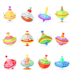 top toy kids whirligig humming spinner vector image