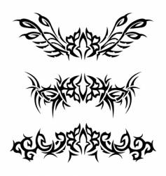 tribal bracelets with flowers vector image vector image