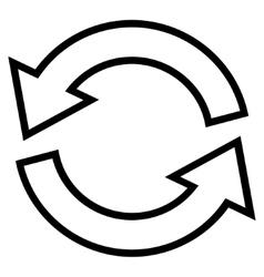 Update Arrows Stroke Icon vector