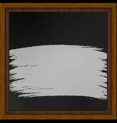 Wooden board with black board chalk vector