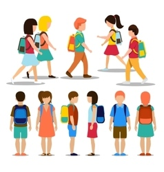 Kids going to school vector image