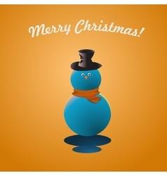 Merry Christmas Snow Man Greeting Card vector image