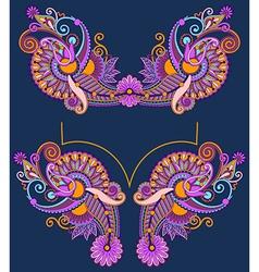 Neckline embroidery fashion vector image vector image