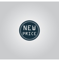 New Price Icon Badge Label or Sticker vector image vector image