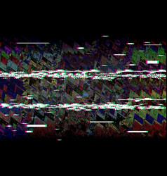 glitch television retro vhs background digital vector image