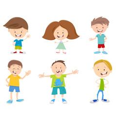 happy cartoon children set vector image vector image