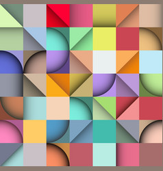rectangle seamless pattern abstract background vector image vector image