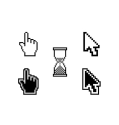 set of different cursors vector image