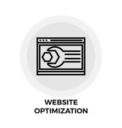 Website Optimization Line Icon vector image
