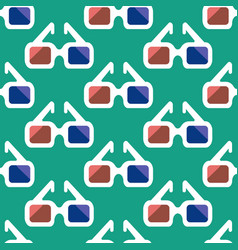 3d cinema glasses pattern vector image