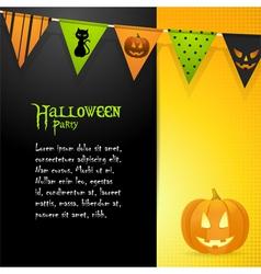 halloween pumpkin panel background vector image vector image
