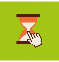 hourglass pointer mouse time vector image