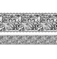 seamless Lace flowers and leaves vector image