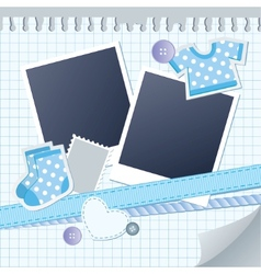 baby frame for photos vector image