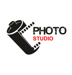 photo studio camera film icon vector image vector image