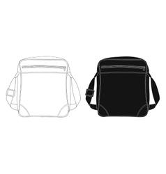 Shoulder bag Contour lines silhouette vector image vector image