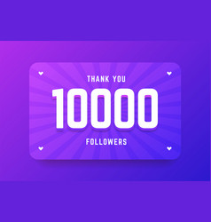 10000 followers in gradient violet vector image