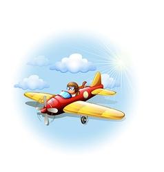 A person riding on a plane vector