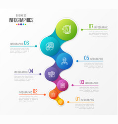 Abstract infographic design 7 steps vector