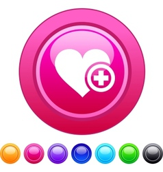 Add to vavorite circle button vector image