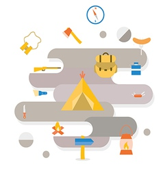 Adventure Camping icon vector image