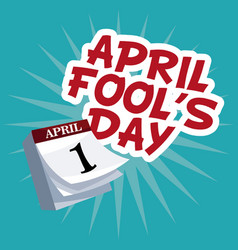 april fools day lettering party vector image