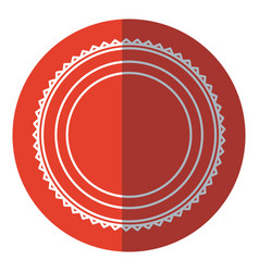 Badge label decoration stamp template red circle vector