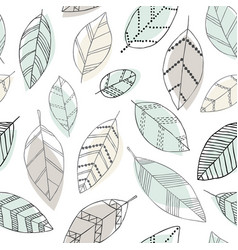 Beautiful seamless doodle pattern with vintage vector