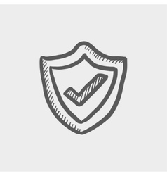 Best seller guaranteed badge sketch icon vector image