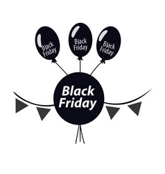 black balloons on a white background vector image