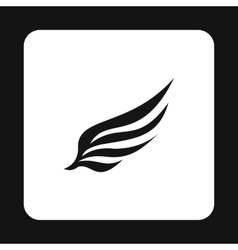 Black long wing birds icon simple style vector