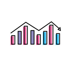business statistic graph to company information vector image