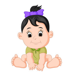 Cartoon cute baby vector